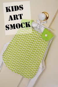 Diy toddler art smock