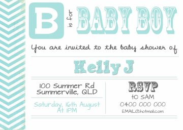 Kelly baby shower sample